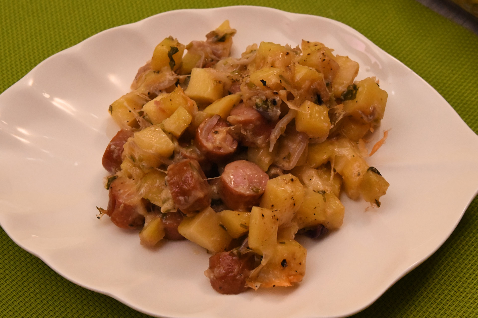 Potato Sausage Bake