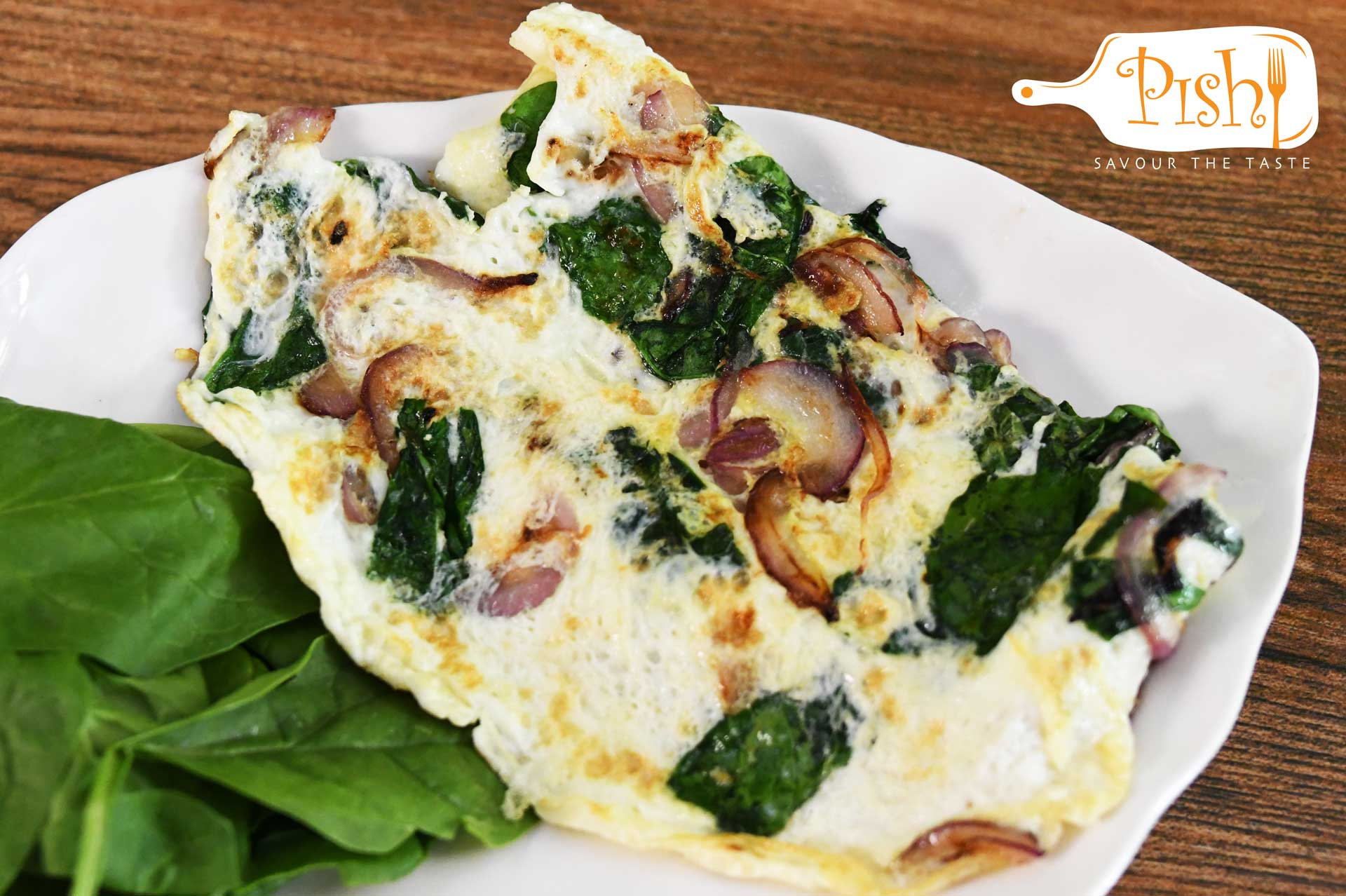 Spinach Egg-white Omelette