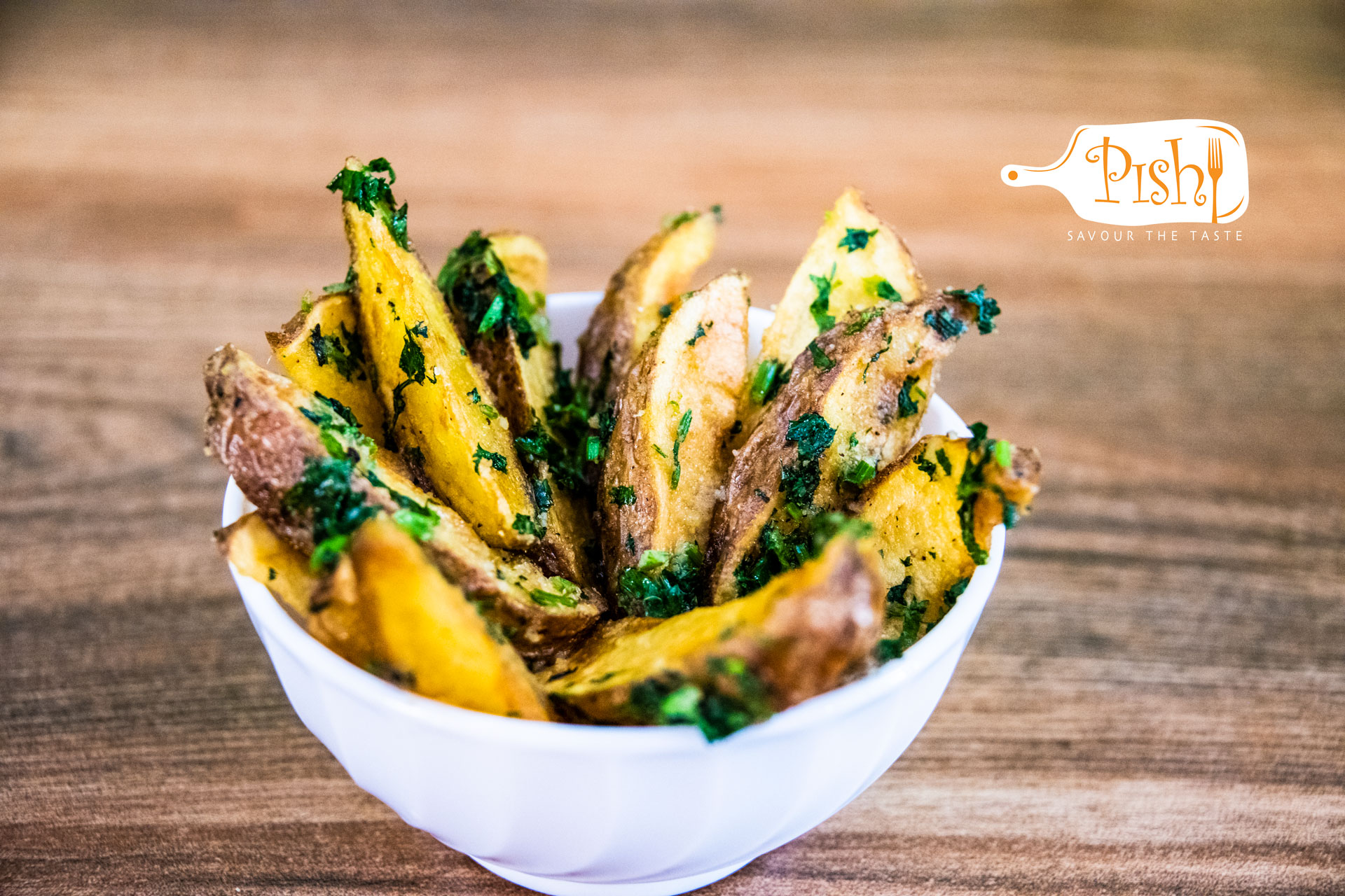 Garlic & Coriander Wedges